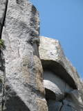 Rock Climbing Photo: Statue's Head 3/4 of the climbing happens on the o...