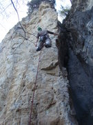 Rock Climbing Photo: Kyle is being treated well by Jessica Crimpson, 5....