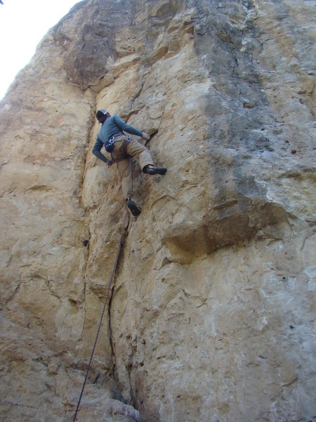 Lee accepts an invite to the badass 5.12a known as Party In My Pants.<br> <br> Party Wall, Danks.<br> Spearfish Canyon, SD.