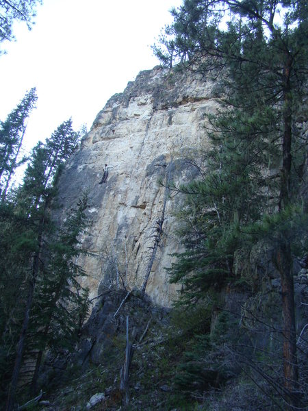 Rock Climbing Photo: Cali climbing Too Drunk To Huck, 5.12c.  The Party...