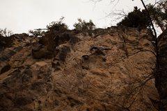 Rock Climbing Photo: Finishing up one fine traverse on Transversetite, ...