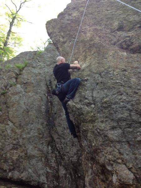 Rock Climbing Photo: Alan Jenkins working South End.