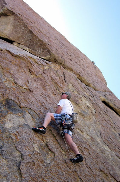Rock Climbing Photo: Heading up to the roof for some pro