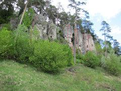 Rock Climbing Photo: The left half of Treunitzer Klettergarten has arou...