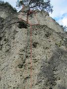 Rock Climbing Photo: 1) Pfeilerweg (R 7), 2) Erster Streich (R 8), 3) A...