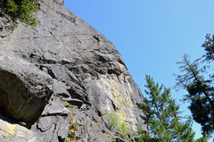 Rock Climbing Photo: Rattlesnake Rock from below, on the approach trail