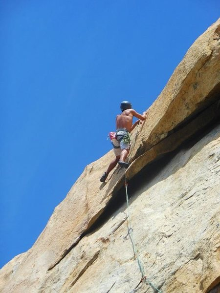 Rock Climbing Photo: To cheat or fall! That is the question :P I cheate...