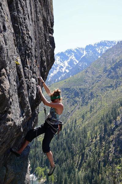 Rock Climbing Photo: J5, starting Early Archeologist
