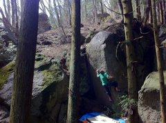 "Rock Climbing Photo: Kondo-San on ""Big Size"" V9/10"