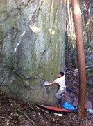 Rock Climbing Photo: Starting Close Shave