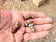 Rock Climbing Photo: Drop in bolts from Sheer Lunacy.  We thought they ...