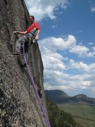 Rock Climbing Photo: Gaining the flakes on pitch 2