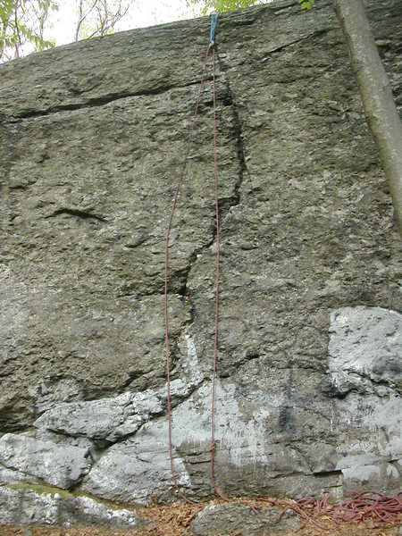 "Rock Climbing Photo: A view of ""The Bone"". Just climb the cra..."