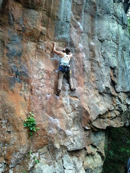 Rock Climbing Photo: Top roping in Chacos as a victory lap after a clea...