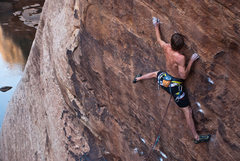 Rock Climbing Photo: Joel Unema on Atlas Shrugged  Photo - Blake McCord