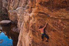 Rock Climbing Photo: Blake McCord on Atlas Shrugged  Photo - Joel Unema