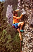 Rock Climbing Photo: Our hero.  Photo by Beth Wald. Climbing Issue #110...