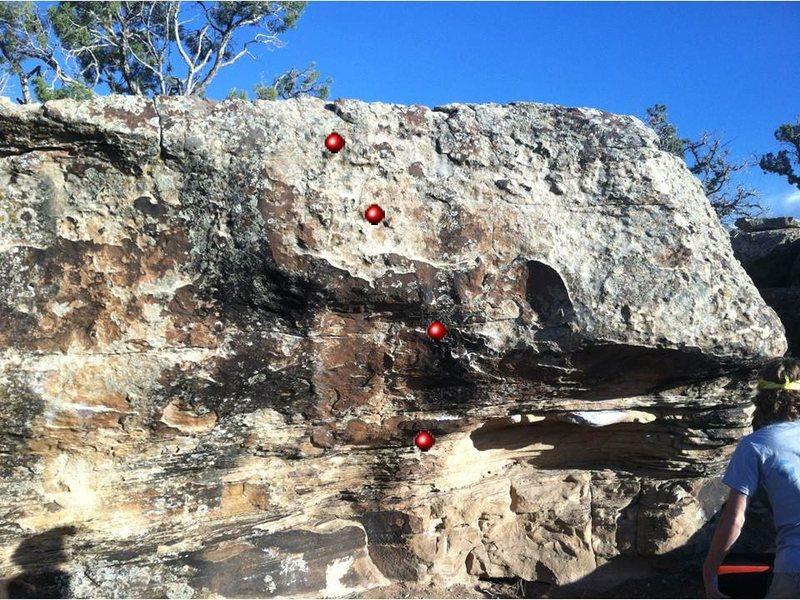 Rock Climbing Photo: A better pic of Brunch beta. Finally!