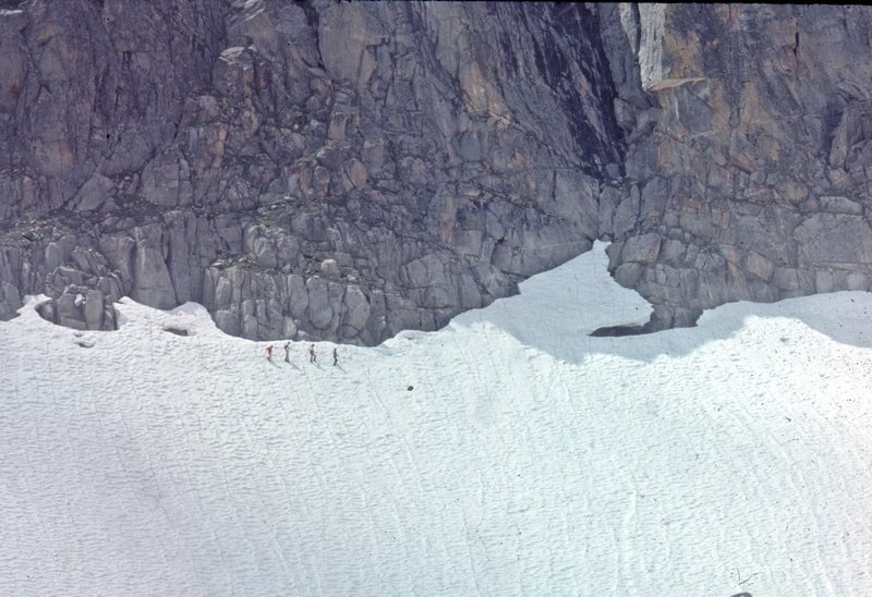Perry Mansfield climbers at the base of Gilpin 1975.  We did a few trad routes here in the late '60s and early '70s.  I'll try digging up more photos.