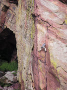 Rock Climbing Photo: Right before the crux on P1...