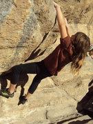 Rock Climbing Photo: me having fun on my birthday