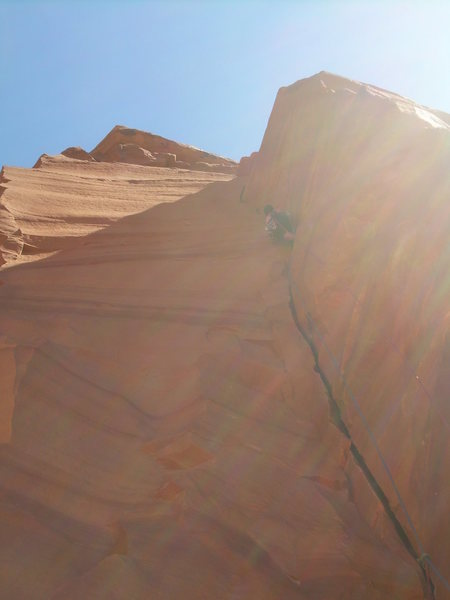 Rock Climbing Photo: The awesome 1st pitch corner!