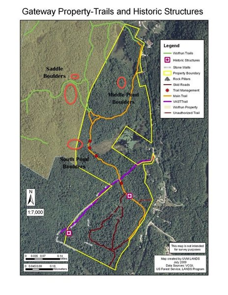 Rock Climbing Photo: A satellite/map showing general area of boulders.