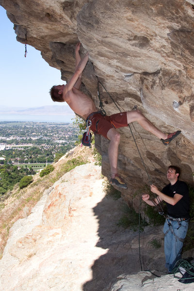 Rock Climbing Photo: Steep but fun route
