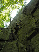 Rock Climbing Photo: Valerie Bachinsky following on Barking Spider.