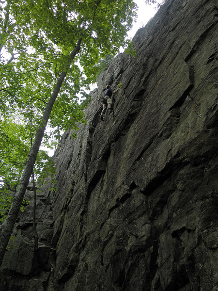 Rock Climbing Photo: Mike Gray top roping Crackatoa.
