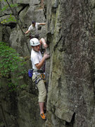 Rock Climbing Photo: Mitch pulling the first crux move on Lithium.