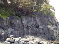 Rock Climbing Photo: The far right side area of Funamushi Rock called K...