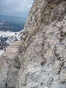 Rock Climbing Photo: Wall Street ledge from above the lower Exum