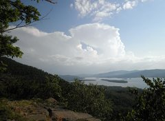 Rock Climbing Photo: View from atop the routes at Eagle Cliff