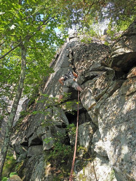 Valerie Bachinsky climbing Drama Queen.