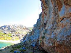 Rock Climbing Photo: The easier face part