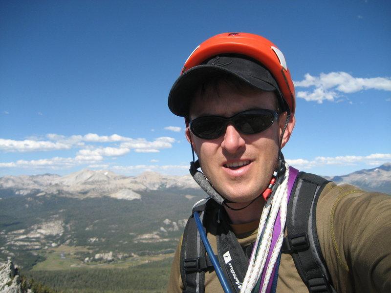 Rock Climbing Photo: Self shot.  Top of Cathedral Peak