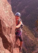 Rock Climbing Photo: Bonnie enjoying the climb on a beautiful spring da...