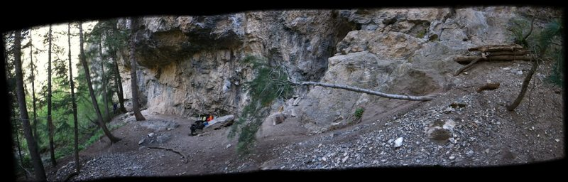 Rock Climbing Photo: After the steep approach i was surprised at the am...
