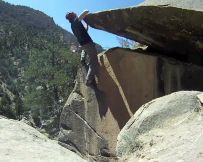Rock Climbing Photo: Cool topping out Claire Emmanulle