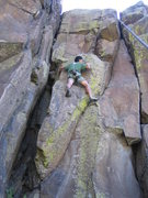 Rock Climbing Photo: The real crux is getting over the bulbous bulge ju...