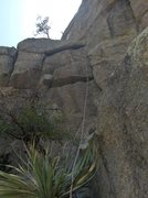 Rock Climbing Photo: Garden Ledge before going into 3rd pitch layback