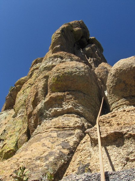 4th pitch. Airy Buttress and fun crack