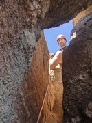 Rock Climbing Photo: fun fun topping out of 4th pitch