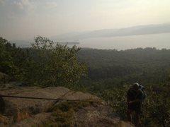 Rock Climbing Photo: Todd Paris atop the Eagle Cliff