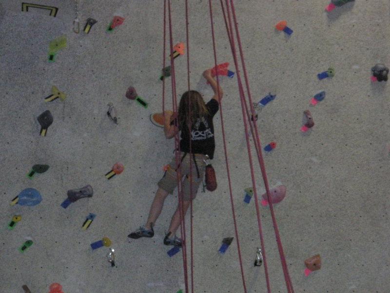 at climbing comp