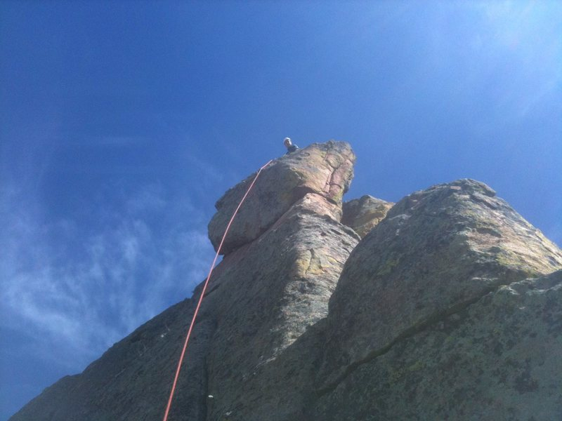 Rock Climbing Photo: Stroblinski on top.