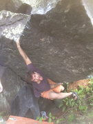 Rock Climbing Photo: Peter seriously cruxing out on the start of The Fr...