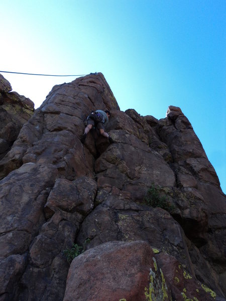 Rock Climbing Photo: Brian Rolfson manages not to smash his toes.