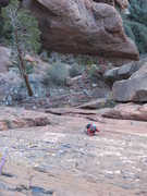 Rock Climbing Photo: Looking down from 2nd belay